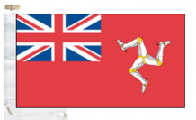 Isle of Man Red Ensign Courtesy Boat Flags (Roped and Toggled)